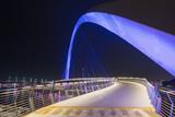 Dubai - The nightly bridge over the new Canal. - 216741679