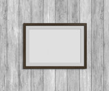 Wooden frame on the wall - 216742482