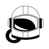 Astronaut helmet isolated vector illustration graphic design