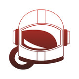 Astronaut helmet isolated vector illustration graphic design - 216750829