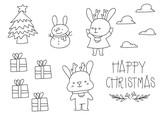 Christmas Rabbit Lovely Year
