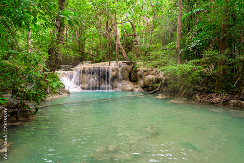 Aluminium Olijf Water fall wildlife Kanchanaburi Thailand