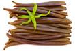 fleur d'ylang-ylang sur gousses fraîches de vanille