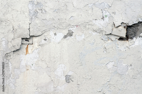 Foto Spatwand Betonbehang Old concrete wall with rust and cracks
