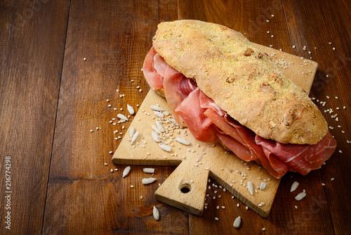 Sandwich with raw ham - 216774298