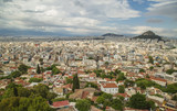 View from Acropolis of Athens urban density