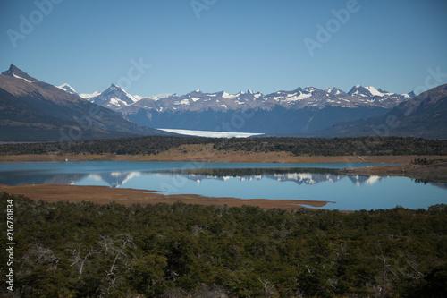 Foto Spatwand Diepbruine Perito Moreno