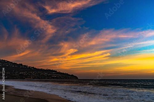 Foto Spatwand Strand PV Sunset