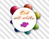 Eid al-Adha handwritten lettering with candy shape for eid Mubarak Celebration Backgrounds. Eid al adha means festival of sacrifices