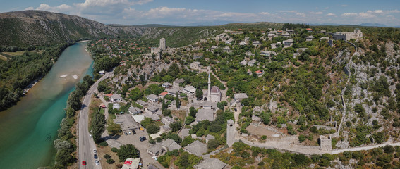 Počitelj is a fortified town from Ottoman period in Bosnia and Herzegovina. It is positioned within canyon of the river Neretva. © Uro