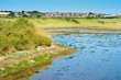 Quadro Landscapes in Tide Mills, Seaford, view of Bishopstone, selective focus