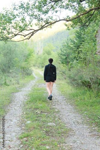 Fotobehang Weg in bos Pura Naturaleza