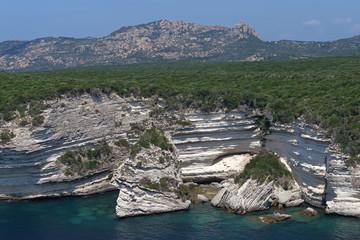 fjord and white cliifs of Bonifacio in Corsica © hassan bensliman