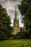 The old church in the rain