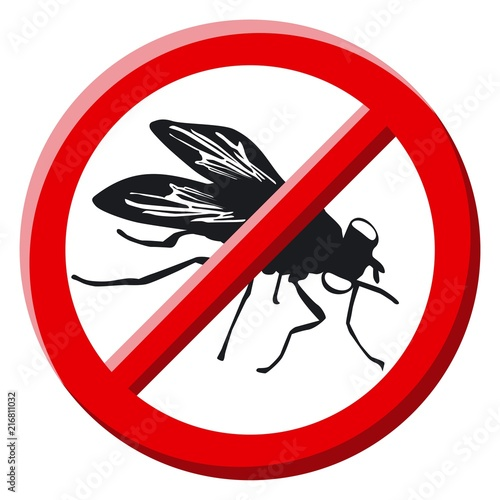 No fly sign vector illustration - 216811032