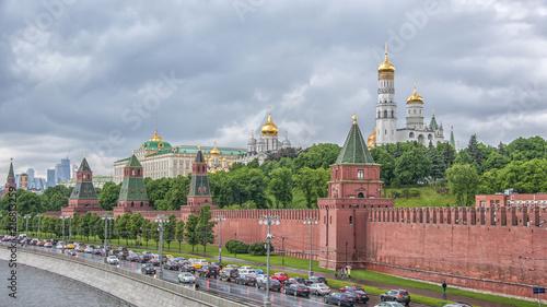In de dag Moskou Moscow Russia Kremlin