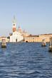 San Giorgio Maggiore at sunset , Venice, Veneto, Italy from the Venetian lagoon