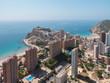 ciudad de Benidorm, costa blanca, España,vista aerea. Playa de poniente y cala de Finestrat - 216816094