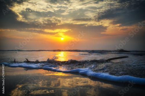 Fotobehang Zee zonsondergang Beach Landscape