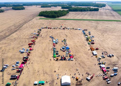 Canvas Trekker Tractors exhibition