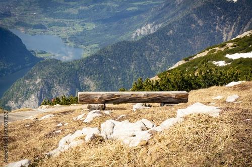 Fotobehang Beige Alps