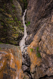 Ouray Box Canyon Waterfall view from the top