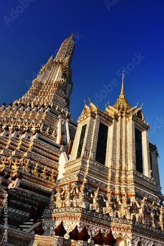 Plexiglas Thailand Wat Arun Ratchawararam, a Buddhist temple in Bangkok, Thailand