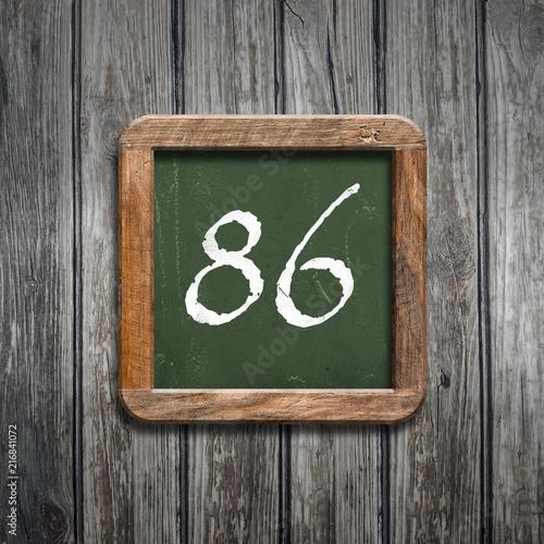 digit on a green blackboard - 216841072