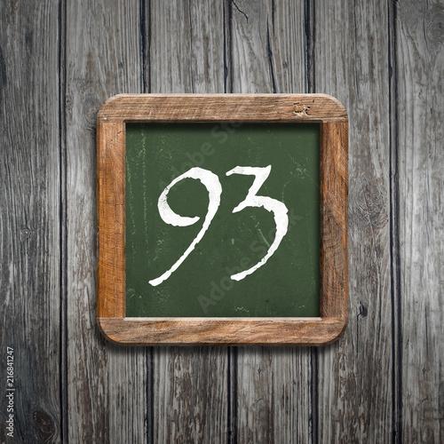 digit on a green blackboard - 216841247