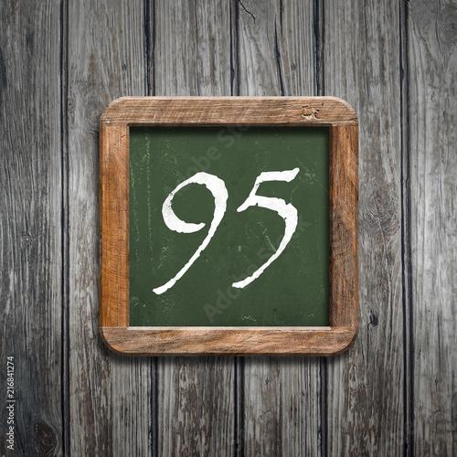 digit on a green blackboard - 216841274