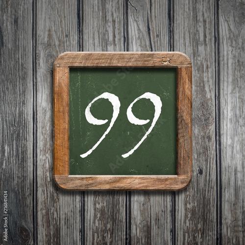 digit on a green blackboard - 216841434