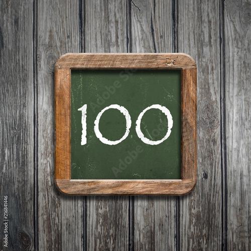 digit on a green blackboard - 216841446