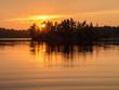 Leinwanddruck Bild - island at sunset