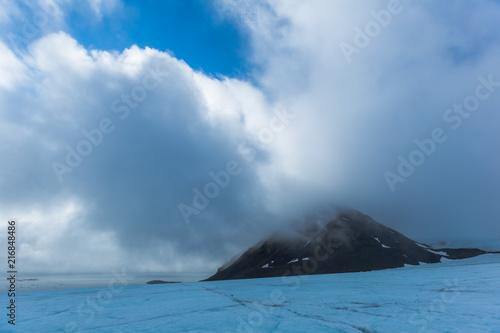 Aluminium Blauwe jeans Declining Arctic glaciers. Southern Spitsbergen.