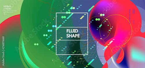 Fluid color background. Liquid shape . Eps10 vector - 216851668