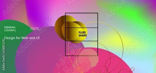 Fluid color background. Liquid shape . Eps10 vector - 216853292