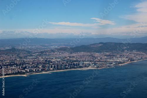 Aluminium Barcelona VUE AÉRIENNE DU PORT DE BARCELONE