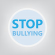 stop bullying concept- vector illustration
