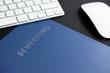 canvas print picture - Online Bewerbung blaue Bewerbungsmappe