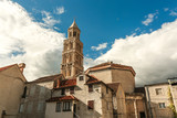 Croatia - Split in Dalmatia. Diocletian's Palace - famous UNESCO World Heritage Site.