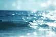 Quadro water of tropical sea, bokeh
