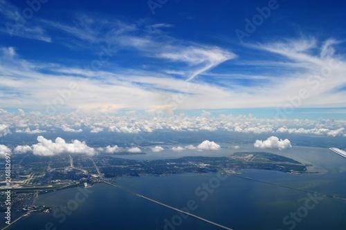 Foto Murales Aerial View of Bridge