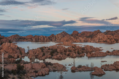 Canvas Diepbruine Scenic Watson Lake Sunset Prescott Arizona