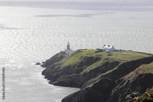 Canvas Vuurtoren Lighthouse in howth, irland