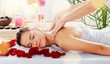 Leinwanddruck Bild - Beautiful young woman relaxing with massage