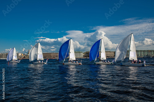 Canvas Zeilen regatta competition in Saint-Petersburg