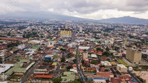 Beautiful aerial view of the city of San Jose  Costa Rica