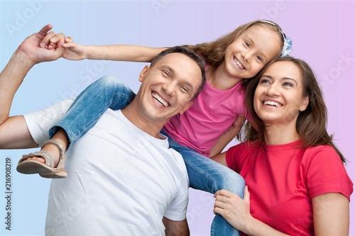 Leinwanddruck Bild Beautiful smiling Lovely family