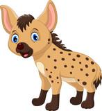 Cute hyena cartoon isolated on white background