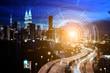 Smart city. Internet technology background. - 216917006